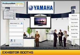 Virtual trade show exhibit